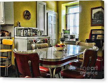 Americana - 1950 Kitchen - 1950s - Retro Kitchen Canvas Print