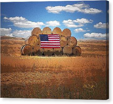 4th July Canvas Print - Americana by Vicki Lea Eggen