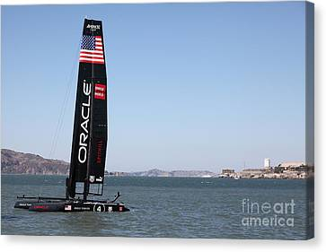 America's Cup In San Francisco - Oracle Team Usa 4 Sailboat - 5d18215 Canvas Print by Wingsdomain Art and Photography