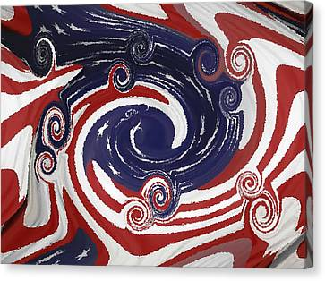 Americas Palette Canvas Print by DigiArt Diaries by Vicky B Fuller