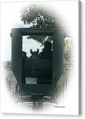 Amish Buggy Ride Canvas Print by TnBackroadsPhotos