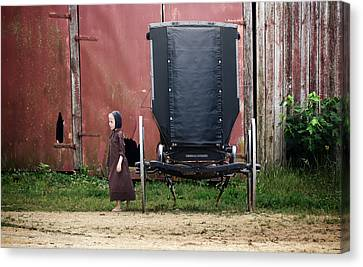 Amish Child Canvas Print by Steven  Michael