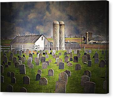 Amish Grave Yard Canvas Print by Kathy Jennings