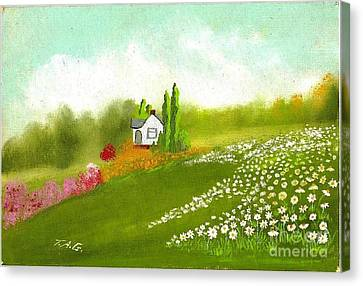 Among Daisies Canvas Print