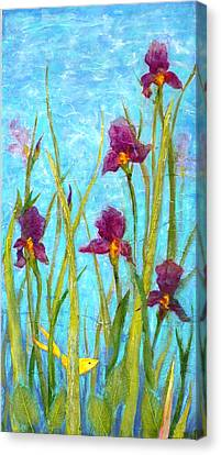 Among The Wild Irises Canvas Print by Carla Parris