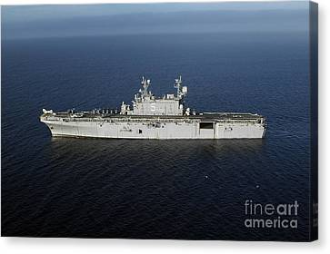 Amphibious Assault Ship Uss Peleliu Canvas Print by Stocktrek Images