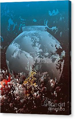 Canvas Print featuring the digital art Amphora by Leo Symon