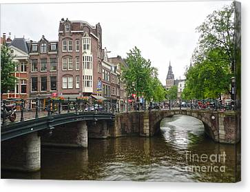 Amsterdam Bridge - 02 Canvas Print by Gregory Dyer