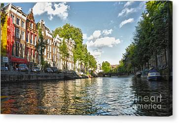 Amsterdam Canal Canvas Print by Gregory Dyer