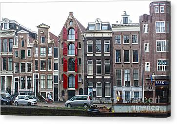 Amsterdam Canal Houses Canvas Print by Gregory Dyer