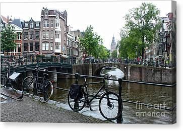 Amsterdam Canal View - 04 Canvas Print by Gregory Dyer
