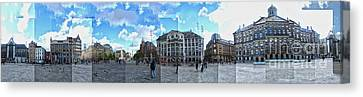 Amsterdam - Dam Square - 01 Canvas Print by Gregory Dyer