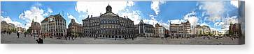 Amsterdam - Dam Square - 02 Canvas Print by Gregory Dyer