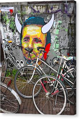Amsterdam Devil Graffiti Canvas Print by Gregory Dyer