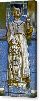 Amsterdam Statue Canvas Print by Gregory Dyer
