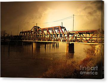 Canvas Print featuring the photograph Amtrak California Gold Usa by Wingsdomain Art and Photography