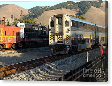 Amtrak Trains At The Niles Canyon Railway In Historic Niles District California . 7d10854 Canvas Print