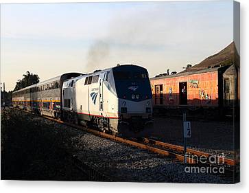 Amtrak Trains At The Niles Canyon Railway In Historic Niles District California . 7d10857 Canvas Print