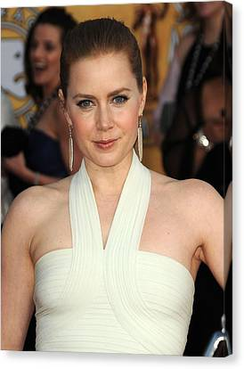 Dangly Earrings Canvas Print - Amy Adams At Arrivals For 17th Annual by Everett