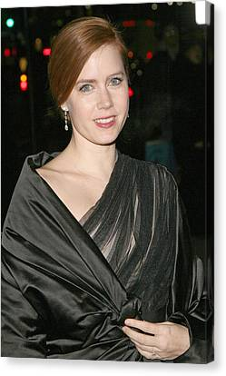Dangly Earrings Canvas Print - Amy Adams At Arrivals For The 2008 by Everett