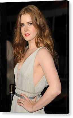 Amy Adams At Arrivals For The Fighter Canvas Print
