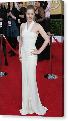 Amy Adams Wearing A Herve Leroux Gown Canvas Print by Everett