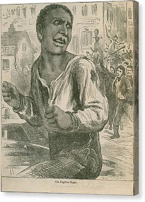 An 1882 Engraving Entitled, The Canvas Print by Everett