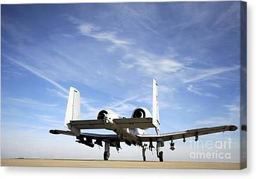 An A-10 Thunderbolt II Taxies Canvas Print by Stocktrek Images