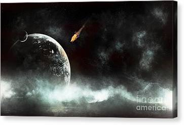 An Abandoned Planet About To Get Hit Canvas Print