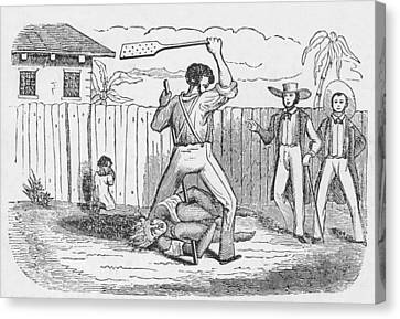 An Abolitionists Image Shows An Canvas Print by Everett