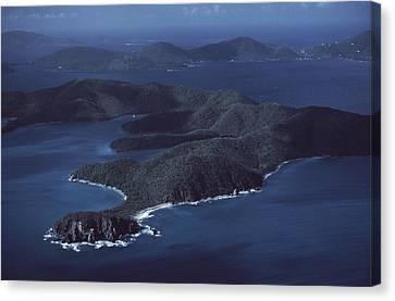 An Aerial Of Saint John Island Canvas Print by Ira Block
