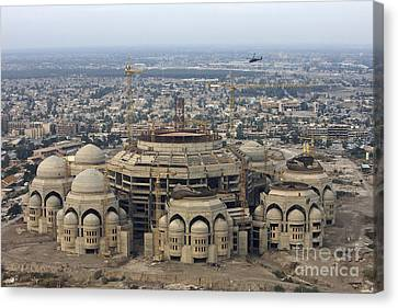 An Aerial View Of Saddam Hussiens Great Canvas Print by Terry Moore