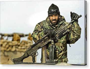 An Afghan National Army Soldier Canvas Print by Stocktrek Images
