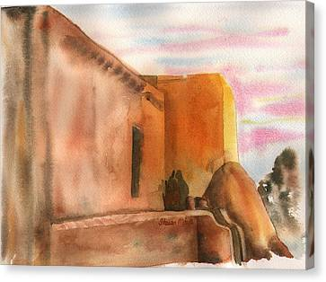Canvas Print featuring the painting An Age Old Adobe by Sharon Mick