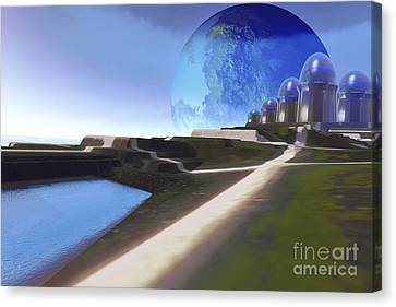 Port Town Canvas Print - An Alien World With Strange by Corey Ford