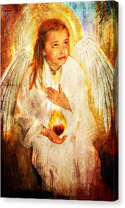 Canvas Print featuring the photograph An Angels Heart  by Nada Meeks