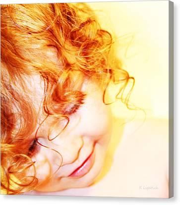 An Angels Smile Canvas Print by Kerri Ligatich