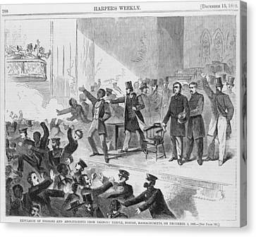 Antislavery Canvas Print - An Angry Mob Broke Up A Meeting by Everett