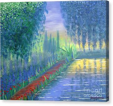 An Artist's Garden Canvas Print