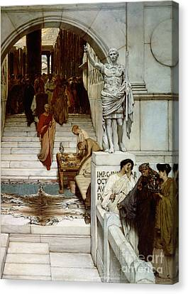An Audience At Agrippa's Canvas Print by Sir Lawrence Alma-Tadema