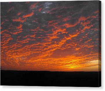 An Awesome Texas Sunset Canvas Print by Rebecca Cearley