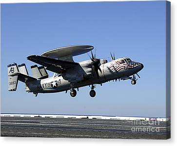 An E-2c Hawkeye Conducts A Touch-and-go Canvas Print by Stocktrek Images