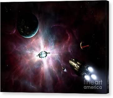 An Enormous Stellar Power Canvas Print by Brian Christensen
