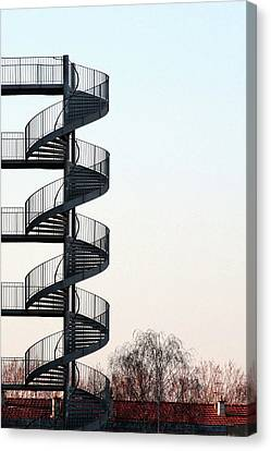Fire Escape Canvas Print - An Escape Stairway by Gerard Hermand