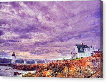 An Evening In Maine Canvas Print by Darren Fisher