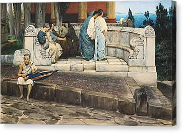 An Exedra Canvas Print by Sir Lawrence Alma-Tadema