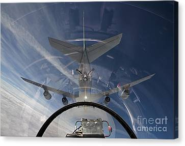 An F-16 Flies In The Pre-contact Canvas Print by HIGH-G Productions