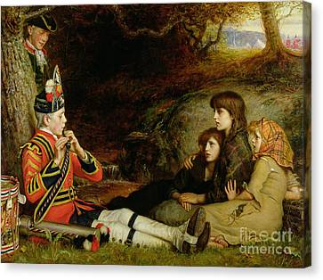 Drummer Canvas Print - An Idyll  by Sir John Everett Millais