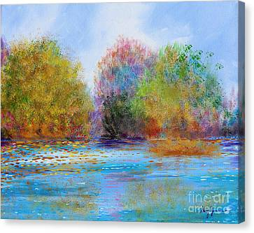 Canvas Print featuring the painting An Impressionist's Symphony by Stacey Zimmerman