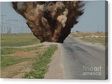 An Improvised Explosive Device Canvas Print by Stocktrek Images